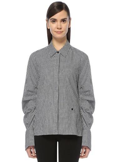 Mo&Co Ekose Gömlek Siyah